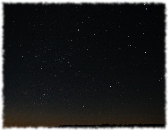Picture of the stars in the night sky to illustrate what Lady Coventry and her love interest the young astronomer would have seen from the top of Broadway Tower.