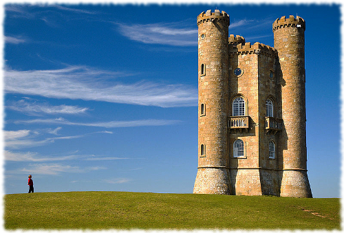Picture of the Broadway Tower located on Beacon Hill in the UK.