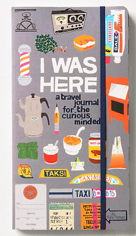 Picture of the cover for the book I Was Here A Travel Journal For The Curious Minded.