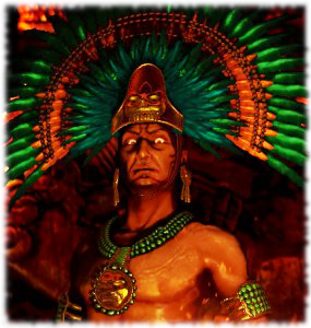 Montezuma Looking Angry To Get Revenge On Tourists